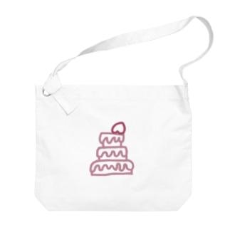 romantic mauve♡strawberry cake Big shoulder bags