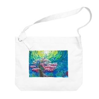 群青の桜華 Big shoulder bags
