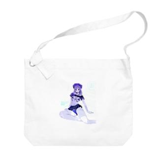 loveclonesのGET WET セーラーガール マリンブルー Big shoulder bags
