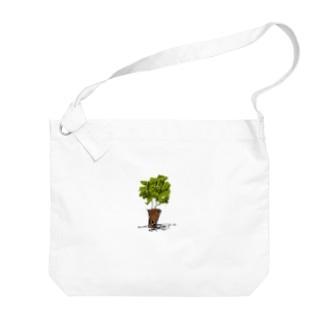 うえきばち Big shoulder bags