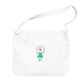 aのドットちゃん Big shoulder bags
