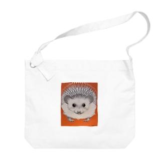キャラクタークリエーションのハリネズミ Big shoulder bags