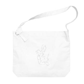 彩.のラウくん Big shoulder bags