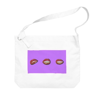 リップ(パープル) Big Shoulder Bag