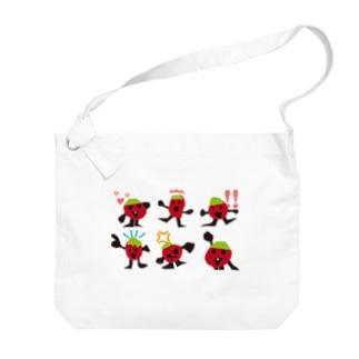 トマトの家族の家族写真 Big shoulder bags