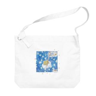 雲ねこちゃん~金平糖をあつめる~ Big shoulder bags