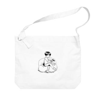 チョットハナカモウ-ウォッチングテレビ- Big shoulder bags