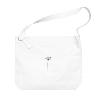 【 ドシンプルな一輪のヒナゲシ 】 Big shoulder bags