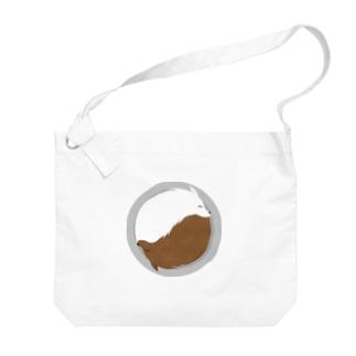 遠目にカレーなオオカミ ライスの位置はお好みで Big shoulder bags