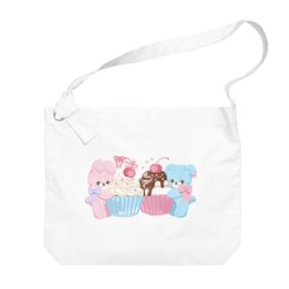 cupcake Big shoulder bags