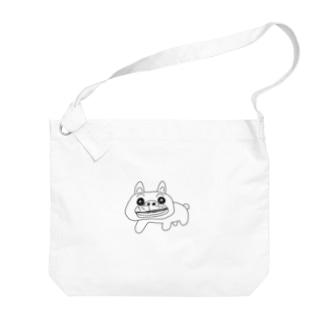 KURUMIMISHOPのゆるゆるブルドッグ Big shoulder bags