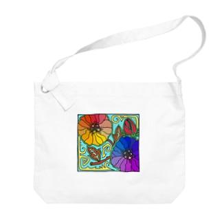 Flower Case Big shoulder bags