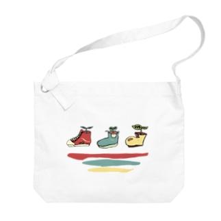 靴の植木鉢 Big shoulder bags