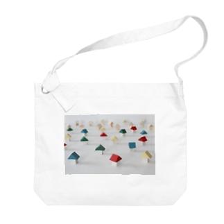 小さなおうちのカラフルな街 Big shoulder bags