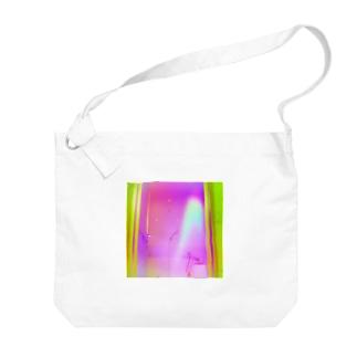 緑桃 Big shoulder bags