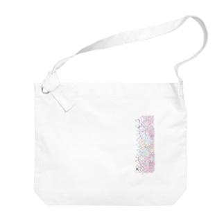 鱗\ビビッド Big shoulder bags