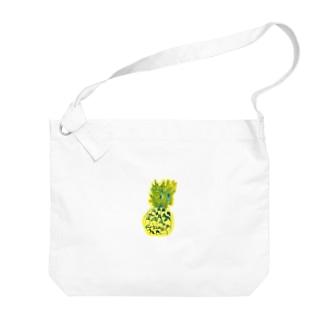 パイナップル〜7歳息子の年長時の作品〜 Big shoulder bags