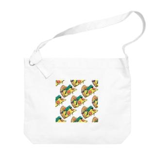 欲望のピザ🍕 GUILTY PLEASURE PIZZA AO TRANSPARENCY Big shoulder bags