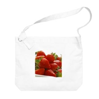 山積みいちご Big shoulder bags