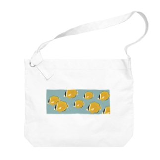 チョウチョウウオの水槽 Big shoulder bags
