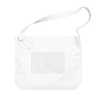 のんすけロゴパターン(透明) Big shoulder bags
