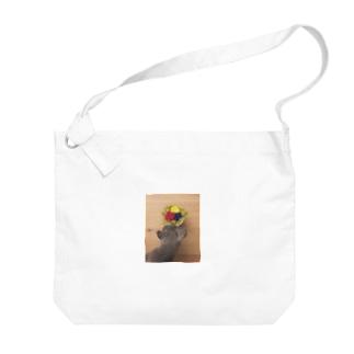 ロシアンブルー小町_花 Big Shoulder Bag