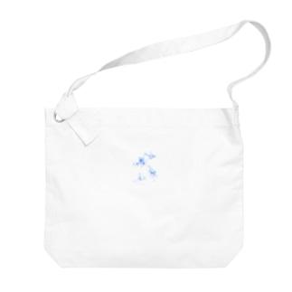 水彩C Big shoulder bags