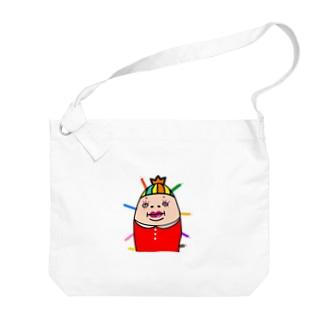 カラフルしも子 Big shoulder bags