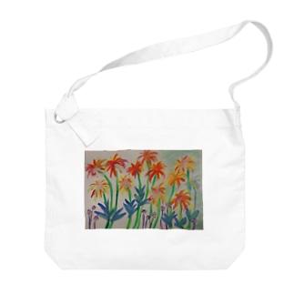 みなみの島の花 Big shoulder bags