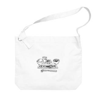 朝食 Big shoulder bags