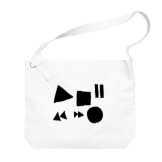音楽のボタン Big Shoulder Bag