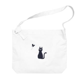 蝶と黒猫 Big shoulder bags