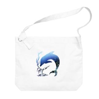 海中 Big shoulder bags