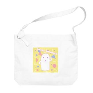 白いハニワ【80's】 Big shoulder bags