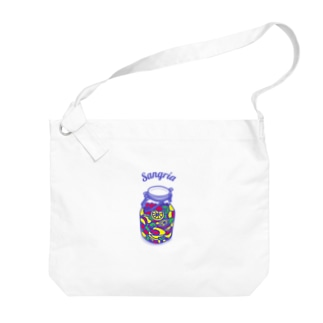 フルーツたっぷりサングリア Big shoulder bags