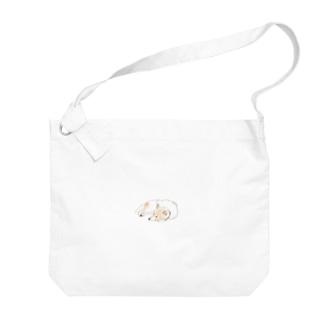 切り絵  草太の世界一可愛い犬 Big shoulder bags