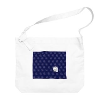 アマビエ隊 青 Big shoulder bags