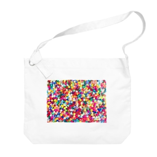 パーラービーズ(長方形) Big shoulder bags