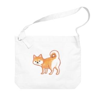 カワイイ顔してイヤミを言う柴犬(セリフ無し) Big Shoulder Bag