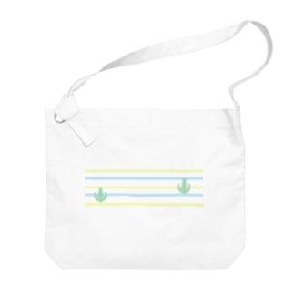 ジェラートラテアート~Landscape~ /パイナップル×ブルーハワイ Big shoulder bags