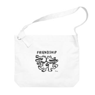 天明幸子 SUZURI  オフィシャルショップのfriendship Big shoulder bags