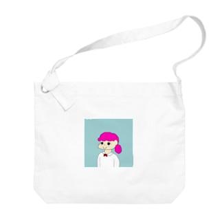 Pink girl Big shoulder bags