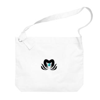 クリスタルを守る堕天使 Big shoulder bags