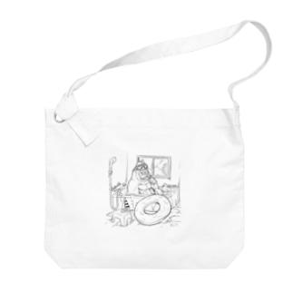 お風呂海水浴ゴリラ Big shoulder bags