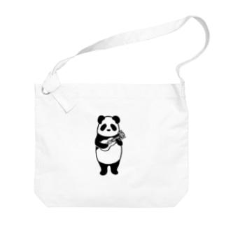 ウクレレパンダ Big shoulder bags