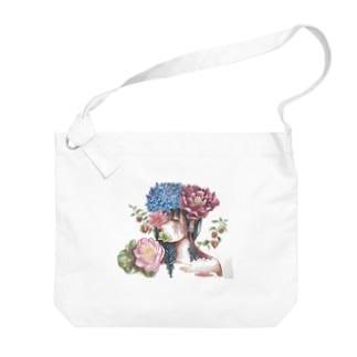 花を吐く Big shoulder bags