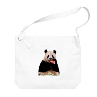 スイカとパンダ Big shoulder bags