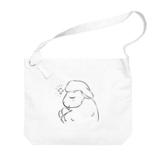 祈るいのりんモノクロ(大) Big shoulder bags