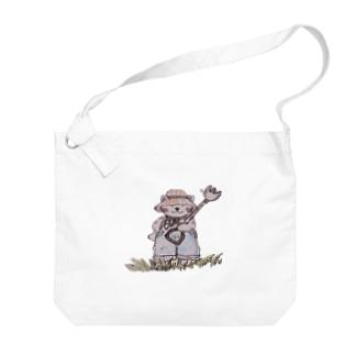農業ニャンコ 猫😺 Big shoulder bags
