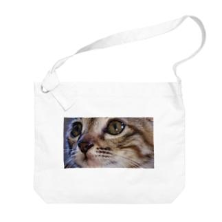 こねこ Big shoulder bags